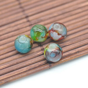30Pcs-8mm-Glass-Pearl-Ball-Round-Spacer-Loose-Double-Color-Beads-Jewelry-Making