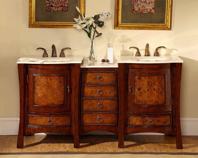 67 Dual Bath Vanity Lavatory Double Sink Bowl Cabinet Bathroom Furniture 727cm