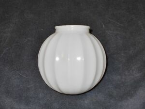 6-inch-WHITE-WIDE-RIBBED-GLASS-GLOBE-LAMP-SHADE-3-1-4-in-FITTER