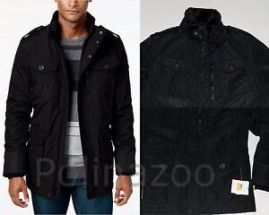 Calvin Klein Men's Black coat Four Pocket Utility Military Jacket ...