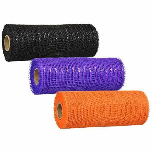 "3 Scary Decorative Halloween Mesh Rolls 6/"" Wide"