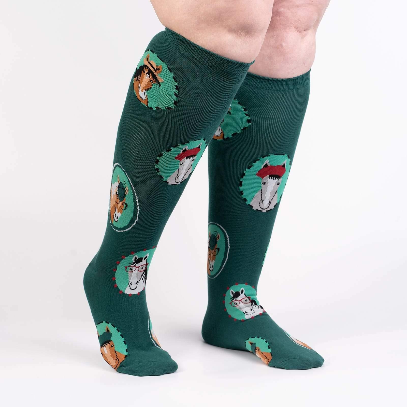 Details about  /Horsing Around Stretch-It™ Unisex Knee High Socks New XL Women 14//Men 13 Fashion