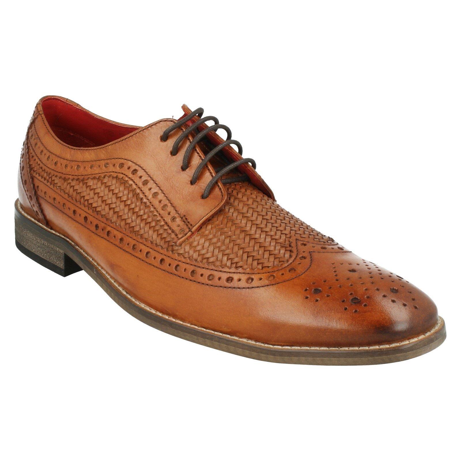 Da Uomo Base Durham Stringati LONDON Tan in cuoio intrecciate Formale Ufficio brogues shoes