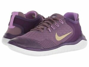 Nike-Free-RN-2018-GS-AH3457-500-Purple-Gold-White-Youth-Girl-039-s-Shoes-NEW
