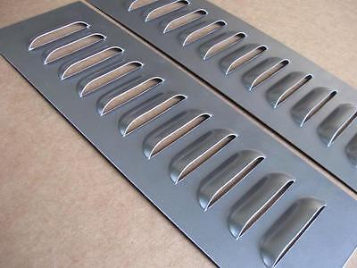 "RodLouvers Pair of Aluminum Straight 5/"" 11 Louvered Panels"