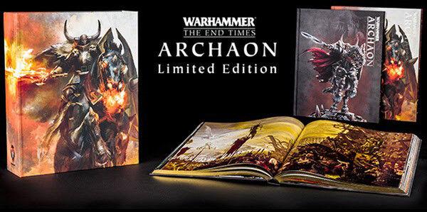 Juegos taller Warhammer Señor de los tiempos finales Archaon edición limitada de tapa dura nuevo