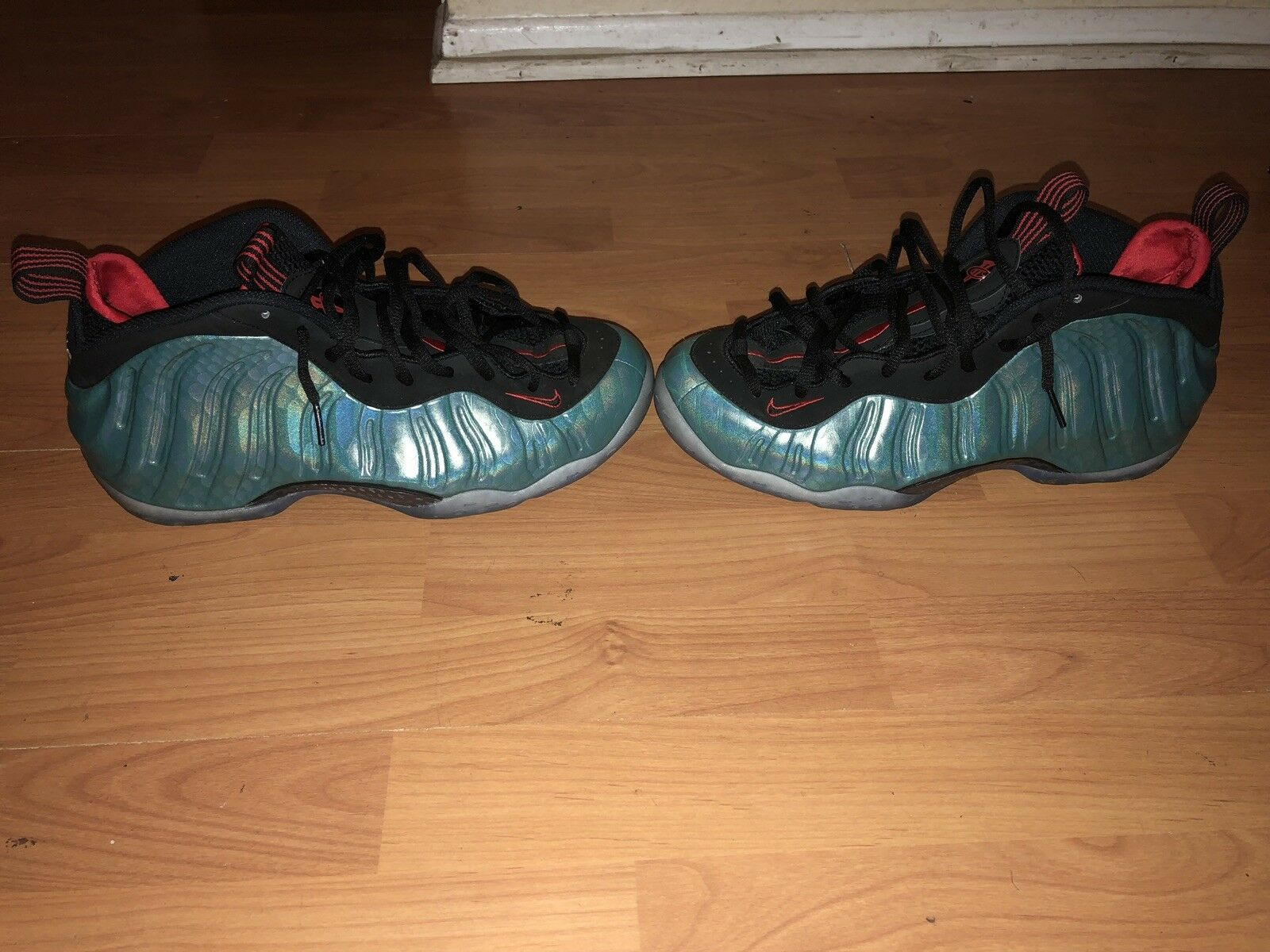 Nike Air Foamposite Gone Fishing Size 11 With Original Box And Netting