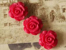 10x Resin Cabochons Blumen zum Kleben 13mm fuchsia tm228