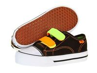 Vans Baby Sneakers Canvas Black Hook And Loop Straps Toddler/childs Size 6