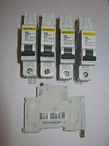 SQUARE D KQ B3 B6 B10 B16 B20 B32 B40 B63 SINGLE POLE MCB CIRCUIT BREAKERS.