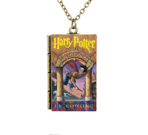 Miniature Harry Potter and the Sorcerer/'s Stone Petit Livre Collier Pendentif