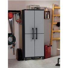 Keter 227138 Space Winner Adjustable Garage Storage Gray Resin Utility Cabinet