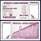 Zimbabwe 5 Billion DOLLARS 2008 P 61 UNC