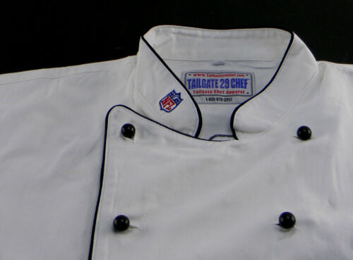 NEW NFL TAMPA BAY BUCCANEERS PREMIUM CHEF COAT 100/% COTTON L SIZE FOOTBALL CHIEF