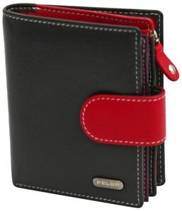 Felda-RFID-onorevoli-MEDAGLIA-amp-Card-Purse-Wallet-Genuine-Leather-Multi-SOFT-BOX-REGALO