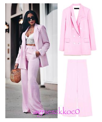Dauerhafter Service bester Verkauf Rabatt-Sammlung ZARA Woman 2tlg. Hosenanzug Set Blazer Hose XS Rosa Pink Hochzeit  Ausverkauft!   eBay