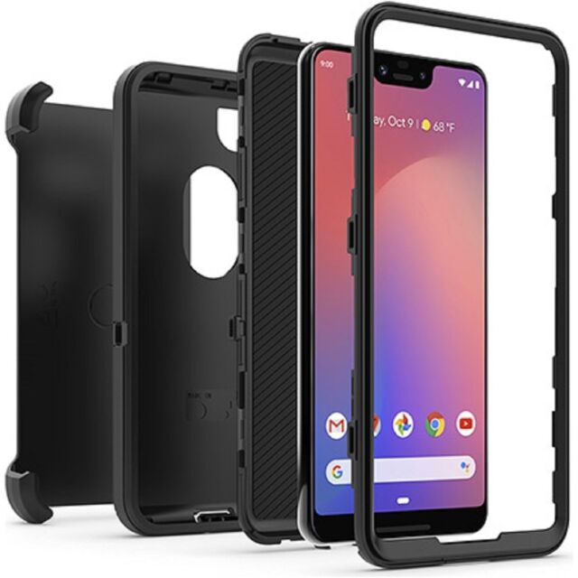 best value 15190 ac9d1 7otterbox Defender Series Screenless Edition Case for Google Pixel 3 XL  Black
