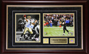 Drew-Brees-New-Orlean-Saints-2-Photo-Signed-NFL-Football-Collector-Frame