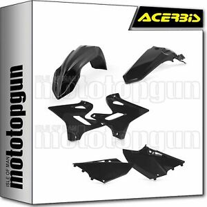 Acerbis Replica Plastic Kit Black for Yamaha WR450F 2016-2018