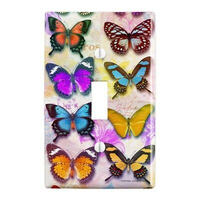 Colorful Butterflies Butterfly Design Wall Light Switch ...