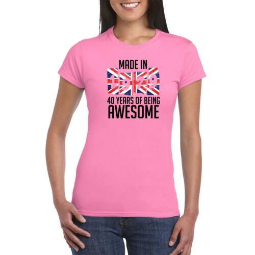 1979 Anniversaire Femmes T Shirt Drapeau Angleterre