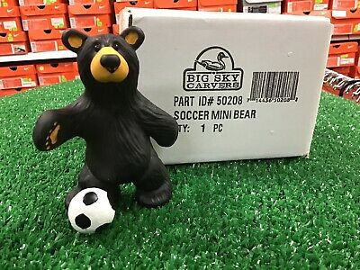 New Big Sky Carvers Soccer Mini Bear Figurine 1pcs Black Bear