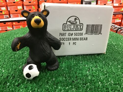 New Big Sky Carvers Soccer Mini Bear Figurine 1pcs Black Bear