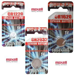 PILES-BOUTON-BATTERIE-MAXELL-CR2016-CR2025-CR2032-LR41-LR44-LITHIUM-3V