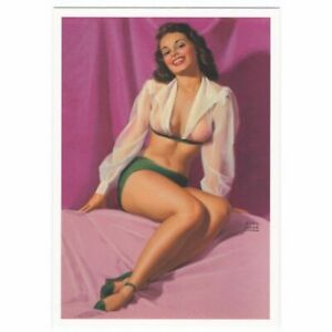 VINTAGE-Postkarte-Pin-up-Girl-RETRO-SHABY-41