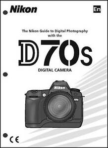 nikon d70s user manual guide instruction operator manual ebay rh ebay com nikon d2x manual pdf nikon d3x manual setting for sports