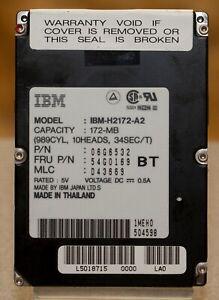 IBM-Travelstar-2-5-034-vintage-172MB-ThinkPad-Hard-Drive-IBM-H2172-A2-Workig-tested