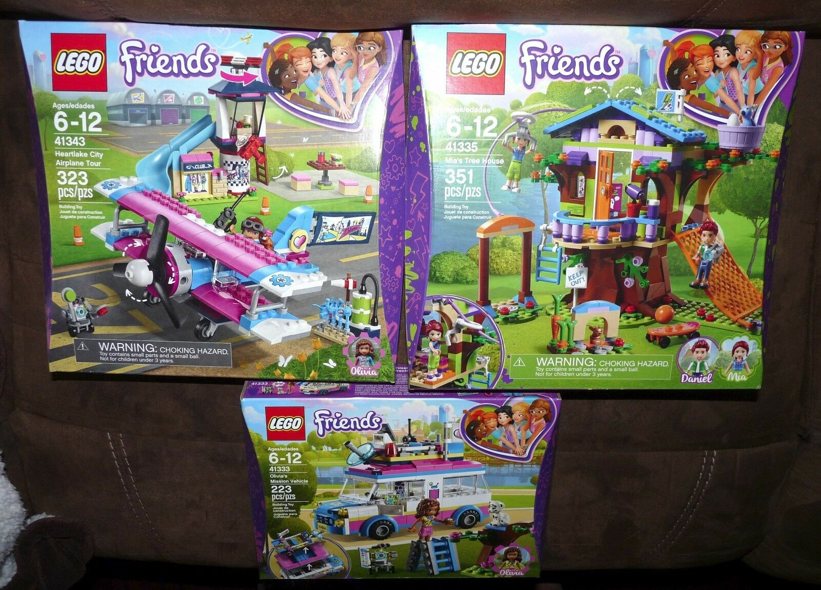 LEGO Friends 41343 Heartlake City Airplane Tour + 41333, 41335 Tree House Olivia