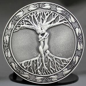 Vintage-Silver-Celtic-Tree-Of-Life-Love-Nordic-Mythology-Belt-Buckle-Pagan-Wicca