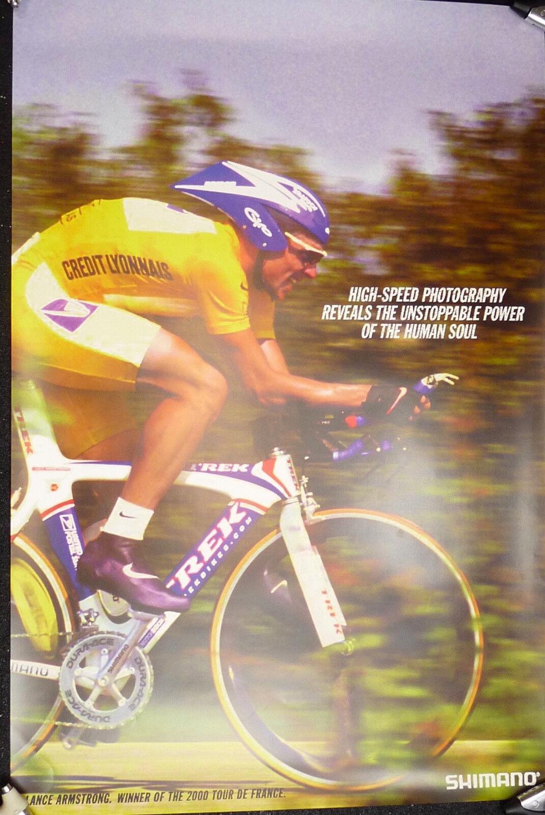 Lance Armstrong Poster  Shimano Dura Ace 24x36  2000 Tour de France NOS  hot