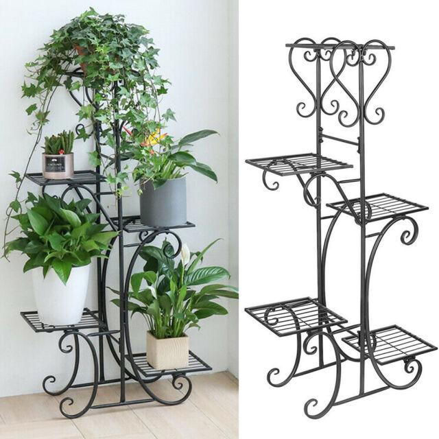Plant Stands Indoor Metal Tall Holder Balcony Flower For Multiple Plants Pot For Sale Online Ebay