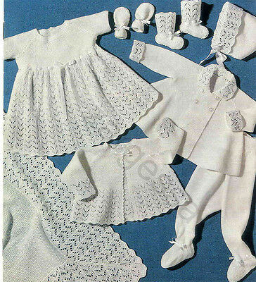 Vintage Baby Layette Knitting And Crochet Patterns Collection On Ebay