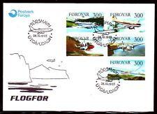 Färöer 1985 FDC Mi.125/29 Luftfahrt | Flugzeuge Airplanes | Boeing 737