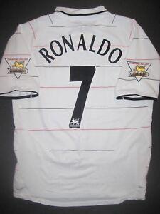 pretty nice 45b76 eae39 Details about 2003-2004 Nike Manchester United Cristiano Ronaldo Jersey  Shirt Kit Third White
