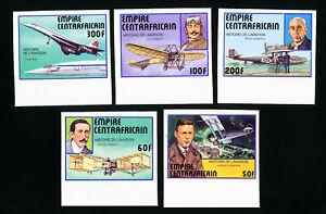 Central-Africa-Stamps-297-301-XF-Imperf-OG-NH
