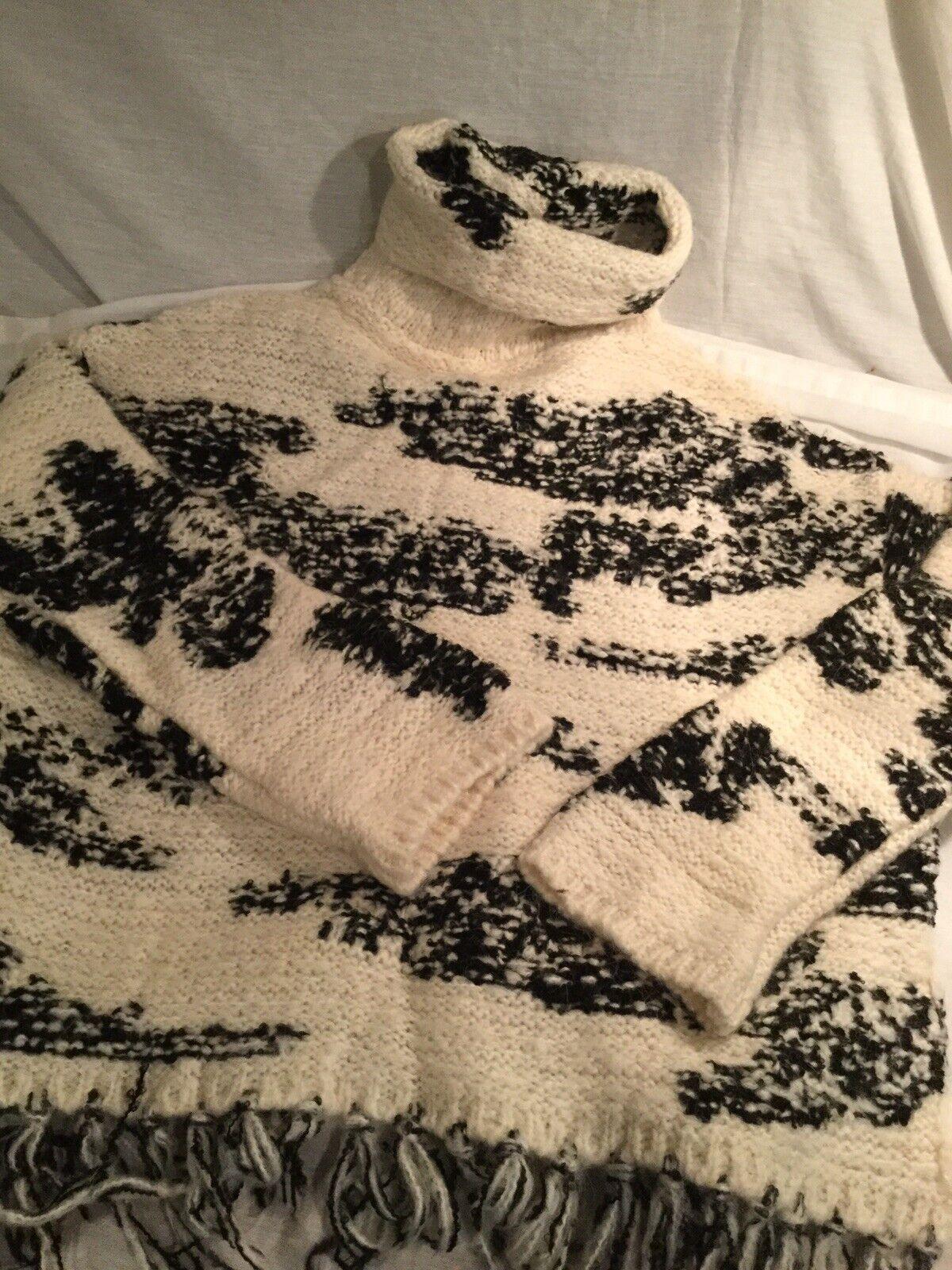 NWOT NWOT NWOT Zara Fringed Sweater M 21687b
