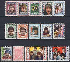 356-Erinnofilia-Lotto-14-chiudilettera-Morandi-Beatles-Rolling-Stones
