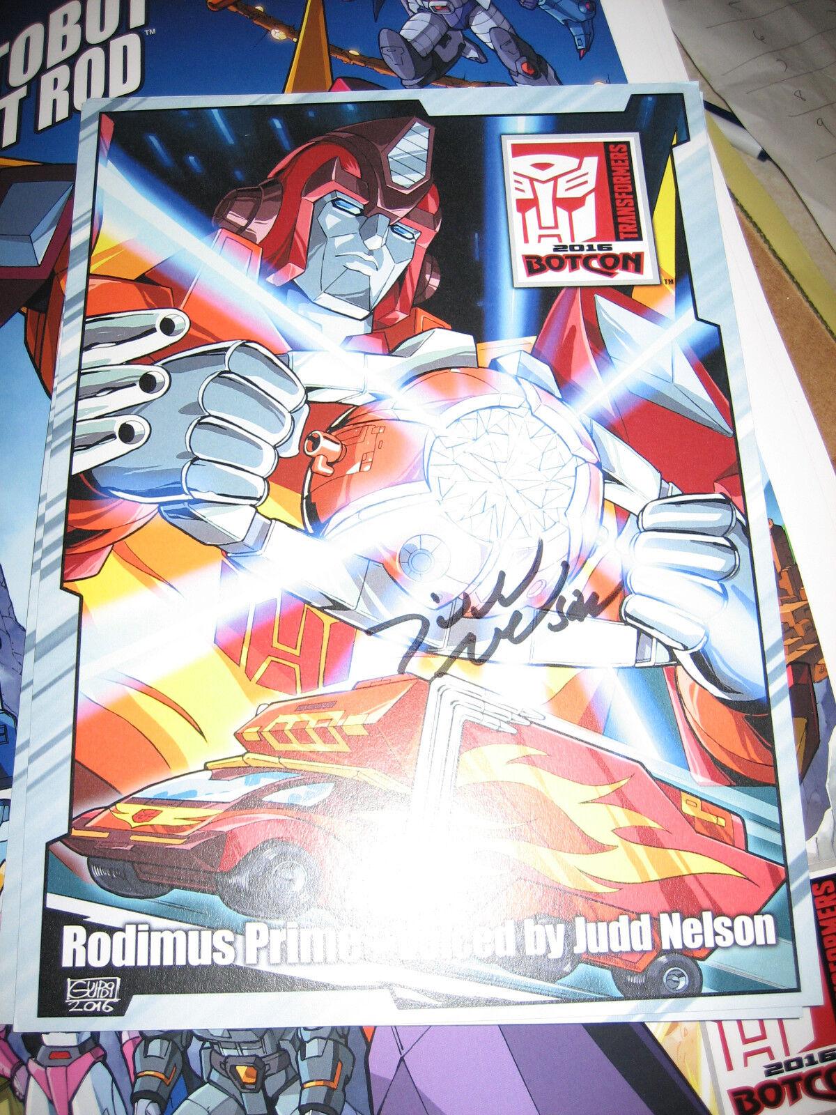 2016 Transformers BotCon G1 Rodimus SIGNED by Judd Nelson OverGrößed Card 10