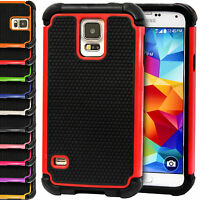 ShockProof Silicone Hard+Soft Case Cover For Samsung Galaxy S5 Mini G800F G800H