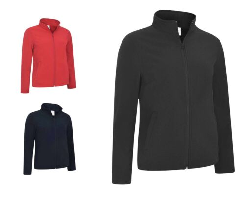 Ladies Full Zip Waterproof Soft Shell Jackets Size 8 to 22 CASUAL WORK UNEEK 613