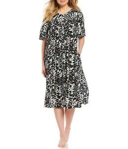e19478f7de0 Go Softly Patio Animal-Print Zip Crinkled Patio Dress Size XL ...