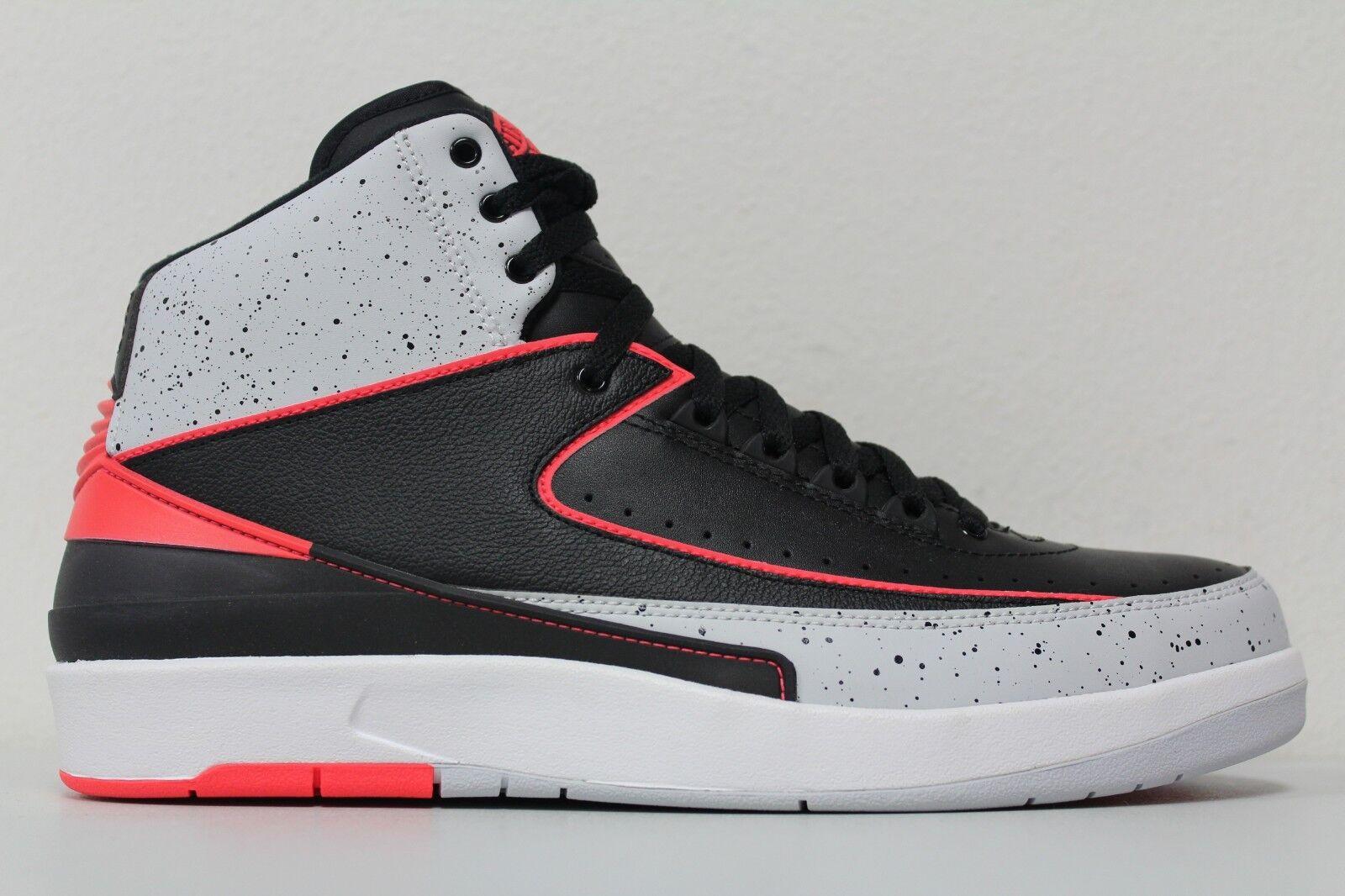 Nike air jordan 2 männer - retro - schwarz größe - weiße 385475-023 größe schwarz 9. b1d01c