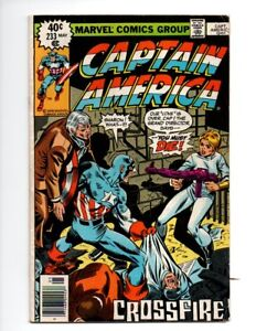 CAPTAIN-AMERICA-233-BRONZE-AGE-MARVEL-Comic-Book