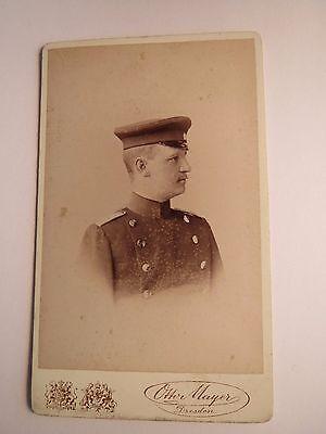 RüCksichtsvoll Dresden - Soldat In Uniform - Portrait / Cdv
