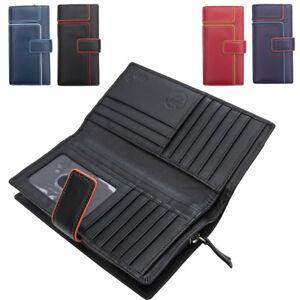 Femmes-Extra-Large-en-Cuir-Veritable-RFID-Bloquant-Organisateur-Clutch-Wallet-purse