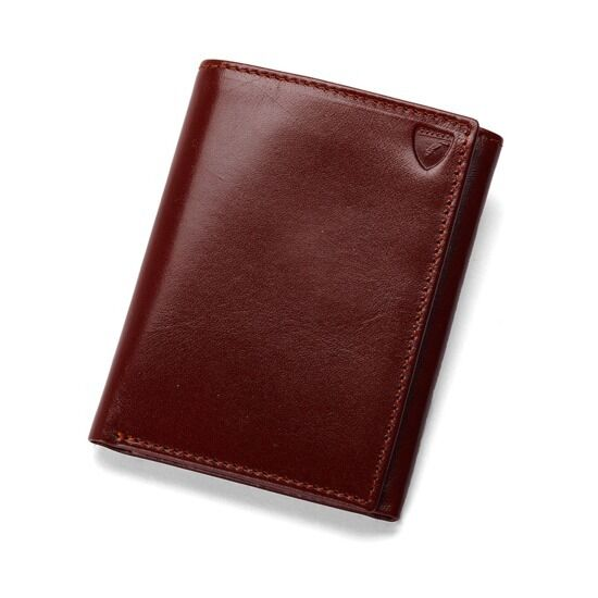 Aspinal of London Trifold Leather Wallet in in in Smooth Cognac. MPCI Embossed.  | Angenehmes Gefühl  ad5daf